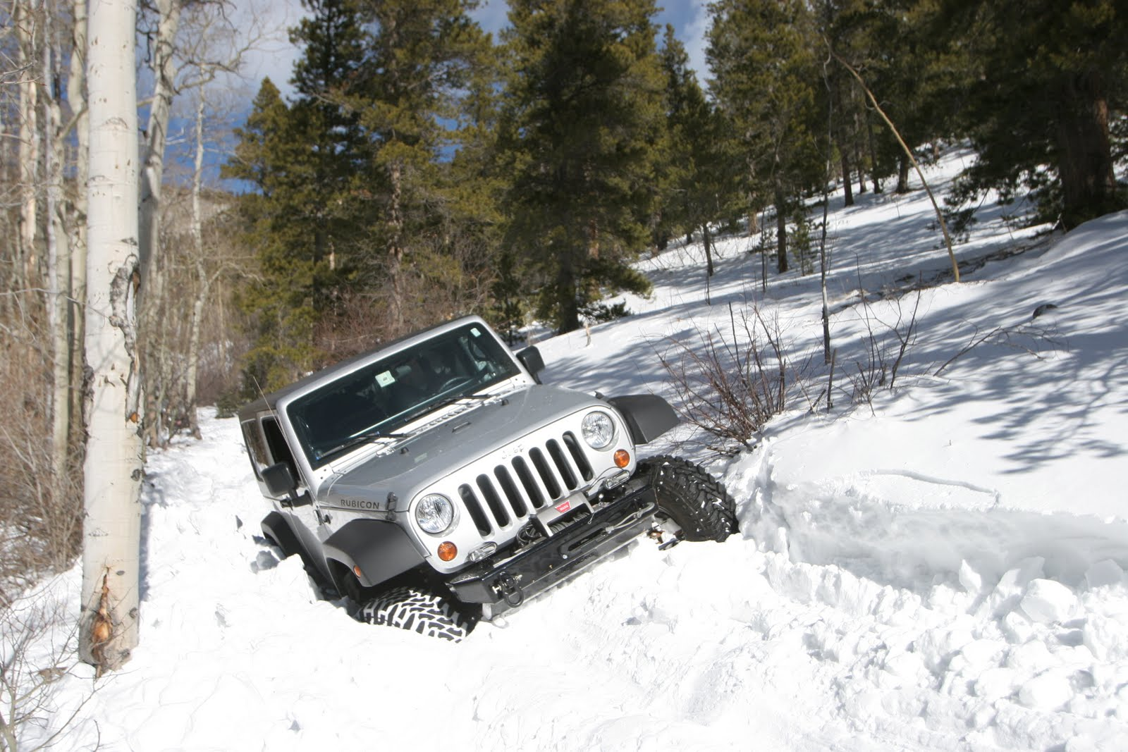 Driving a jeep in the winter